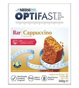 Optifast VLCD Bars  Cappucino 60G x 6 Pack ozhealthexperts