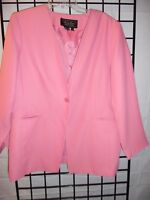 2 pc. pink skirt suit by terry lewis size large