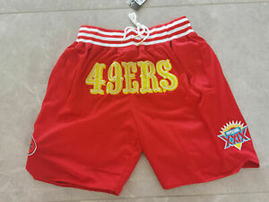San Francisco 49ers NFL American football Red shorts Size:S-XXL