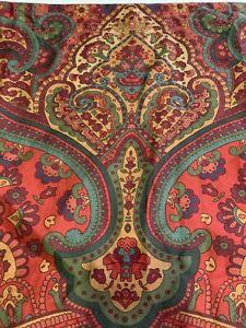 Single Pottery Barn Mira Paisley King Pillow Cotton Sateen Sham 20x36 Red
