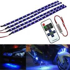 Wireless Remote Control Motorcyle Blue LED Light Strip Kit For Harley-Davidson