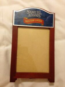 Samuel Adams Sam Boston Lager Beer Table Stand Tent Picture Frame - Brand New