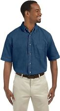 Harriton Mens Short-Sleeve Denim Shirt. M550S
