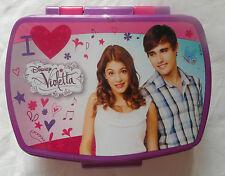 Disney VIOLETTA- Plastic Sandwich Box Lunchbox Container Size Approx 15.5x11x6cm