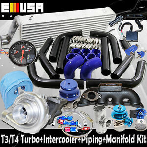 T3/T4 Turbo Kit for 1987-1992 VW Jetta GlI 16 Valve Sedan 4D 1.8 2.0