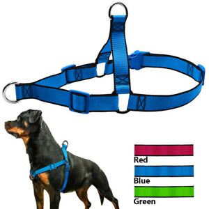 No Pull Front Lead Dog Harness Nylon Adjustable for Medium Large Dogs Rottweiler