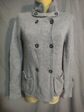 Gap Wool Blend Double Breasted Cardigan Women's Size SMALL  Gray