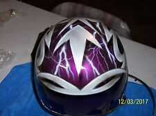 custom airbrushed motorcycle helmet