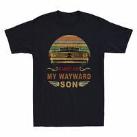 Funny Carry on my Wayward Son Men's T-Shirt Gift Cotton Short Sleeve Tee New