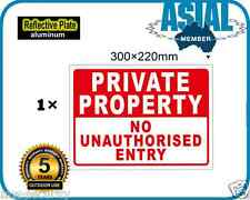 PRIVATE PROPERTY NO ENTRY Aluminium Reflective Plate Metal Sign