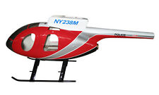 MD 500 E Voll GFK-Rumpf 500er Heli NYPD ROT, T-Rex CopterX fuselage BladeHughes