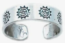 Happy Sun Toe Ring Sterling Silver 925 Best Deal Adjustable Jewelry Usa Seller