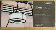 Allen+Roth Outdoor LED Chandelier w Built in Wireless Speaker w Remote - New