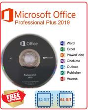 Microsoft Office Pro Professional 2019 License Key & DVD 32 & 64 Bit 1PC Only