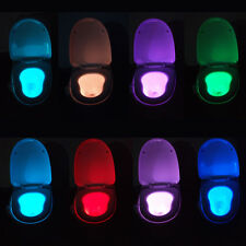 Smart LED Human Motion Sensor Night Light With 8 Color Toilet Seat Lamp