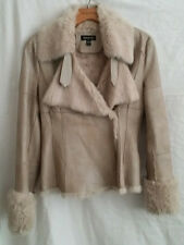 Vintage bebe 100% Leather and 100% Dyed Rabbit Fur Lining Jacket EXCELLENT COND