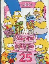 San Diego Comic Con 1994 Souvenir Guide (Simpsons cover) Near Mint