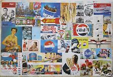 PEPSI COLA POSTER OF OLD CLASSIC ADVERTISEMENTS THROUGH THE YEARS v.2 - Soda Pop