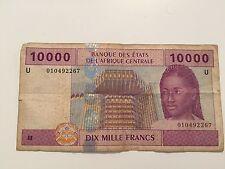 Billet de 10000 F CFA BEAC Guinée Equatoriale Série F  pour collection