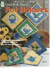 Quick & Easy Pot Holders Quilting Patterns Book Ruth Swasey Quilt Sewing New