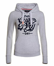 New Womens Superdry Unique Sample Osaka Brand Hoodie Size Small Ice Marl