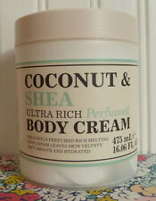 CREIGHTONS COCONUT & SHEA ULTRA RICH PERFUMED BODY CREAM 16 OZ TUB