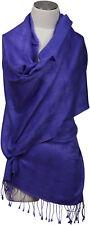 Pashmina Schal Lila Cashmere Seide,  silk scarf Jacquard Schneeflocken purple