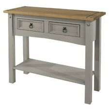Wood Hall Table Console 2 Drawers   Furniture Dash