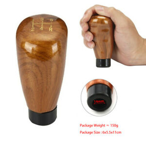 5-Speed Universal Manual Car Gear Shift Knob Stick Shifter Wooden Style