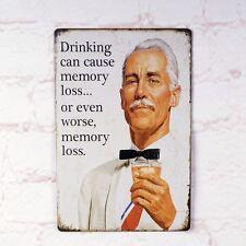 I DRINK BEER Poster Metal Tin Signs Plaque Home Pub Bar Wall Decor Man Cave