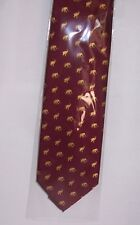 Elephant design on burgundy tie