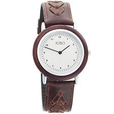 Unisex Armbanduhren mit Mineralglas Holz