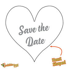 48x HEART SHAPED NON Personalised Wedding SAVE THE DATE Favour Stickers 457