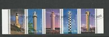 1 set 2006 Lighthouses of the 20th Century strip of 5 CTO (104)