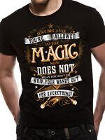 Harry Potter Magic Wand Distressed Gryffindor Hogwarts Black Mens T-shirt