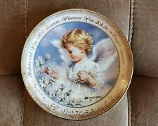 The Bradford Exchange Dona Gelsinger Believe & You Will Receive Angel Plate