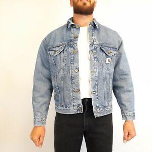 Vintage Carhartt Blanket Lined Denim Jacket Medium Blue