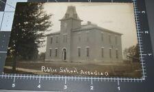 Public School ARCADIA OHIO OH Early Education Building 1907 RPPC Vintage PHOTO