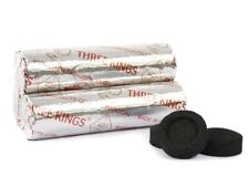 Three Kings Incense Hookah Charcoal, 3 Roll, 30 Disc 33mm Round Coal