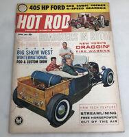 HOT ROD - April 1962 - Everybody's Automotive Magazine - Vol.15 No. 4