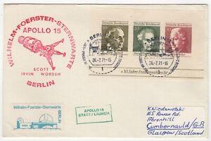 1971 Jul 26th. Apollo 15 Cover. Berlin Tracking Station.