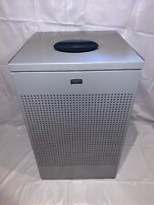 Rubbermaid FGSC18EPLSM Silhouette Square Open Top Waste Receptacle 20 Gal Silver