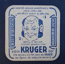 Ancien sous-bock Belgique KRUGER BIER Bierdeckel coaster