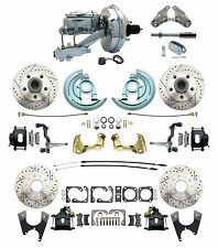 "1964-1972 Chevelle, GTO, 9"" Chrome Booster & Drilled/ Slotted Disc Brake Kit"