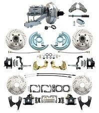 "1964-1972 Chevelle, GTO, 9"" Chrome Booster & Drilled/ Slotted Disc Brake Kit"
