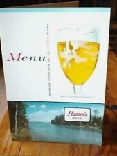 New listing Hamm's Beer Advertising Menu Cover VintageNos-Plus Includes a Insert Price Sheet