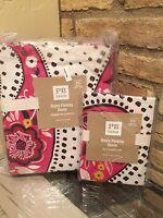 Pottery Barn Teen Kids Retro Paisly Twin Duvet Cover Standard Sham 2 piece set