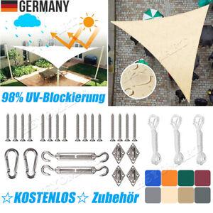 DE Sonnensegel Dreieck Sonnenschutz Segel Beschattung Schattensegel Free Fixings