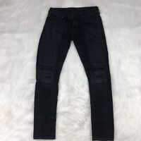 COH Citizens Of Humanity Skinny Moto Jeans Size 28 Dark Distressed
