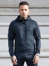 BBH Mens Designer Hoodie Slim Fit Sports Gym Zip Up Tracksuit Hooded Top Hoody